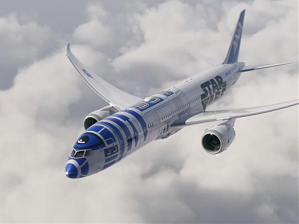 ANA Dreamliner 787-9 Star Wars R2-D2 Livery