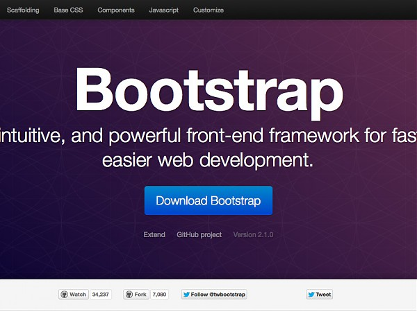 Twitter Bootstrap 2.1.0 RC